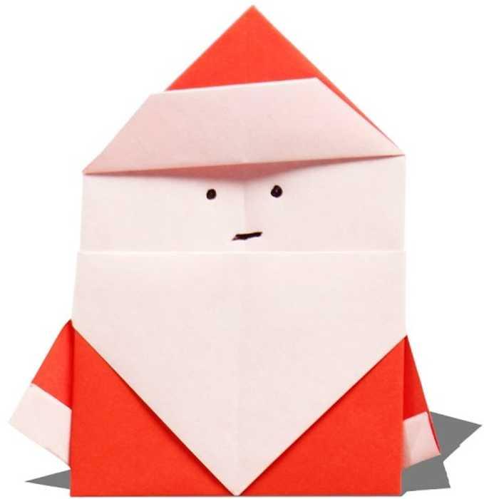Origami 3D Santa Claus by IDEAndo-art on DeviantArt | 700x679