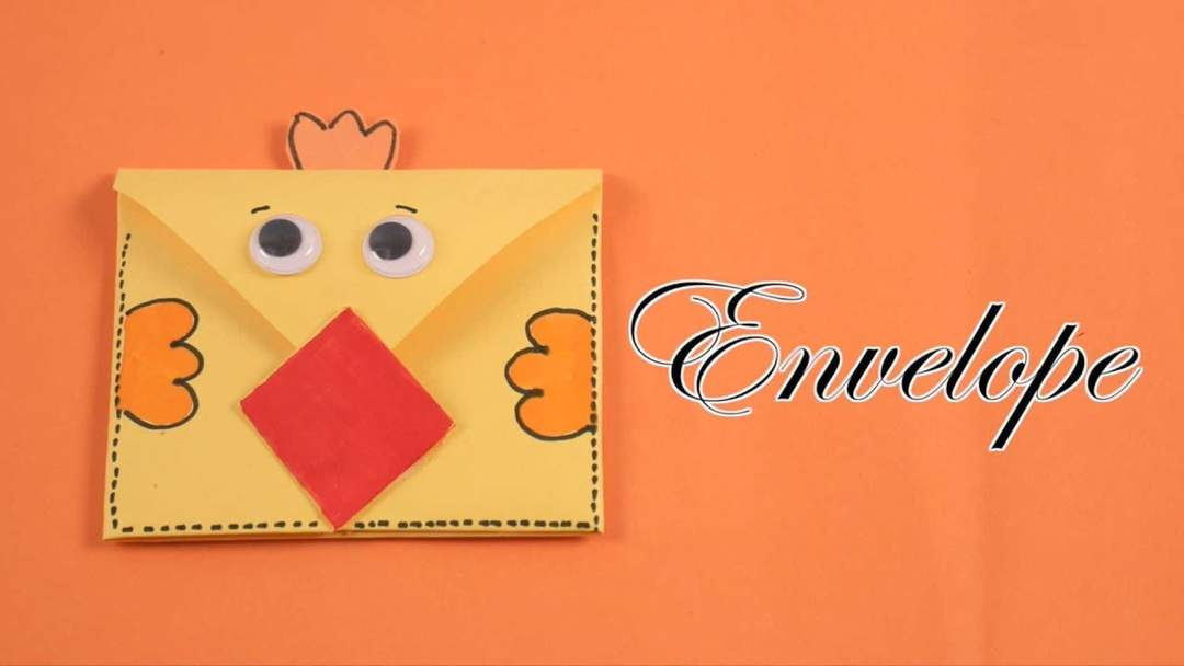 Cute Origami Envelope - Winter Animals - Red Ted Art - Make ... | 608x1080