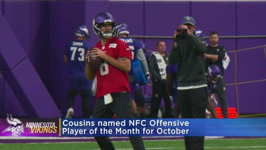 Vikings' QB Kirk Cousins Named NFC Offensive Player Of The Month