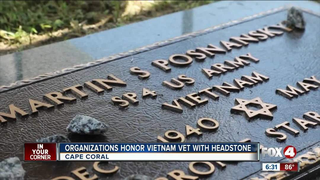 Honoring a Vietnam Vet with a gravestone 13 years after death