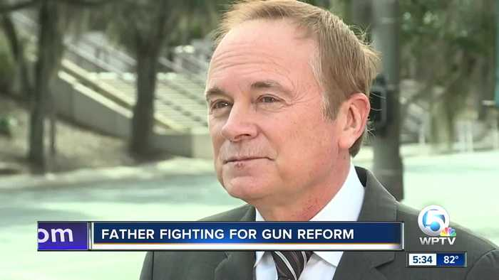 Dad of mass shooting victim working for gun reform in Florida