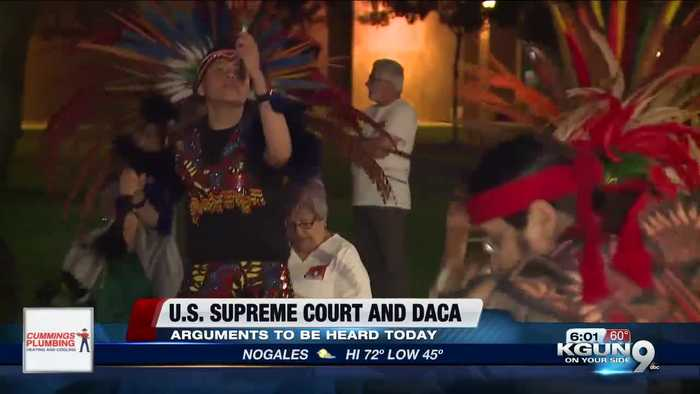 DACA supporters gather in prayer outside Arizona capitol ahead of Supreme Court vote