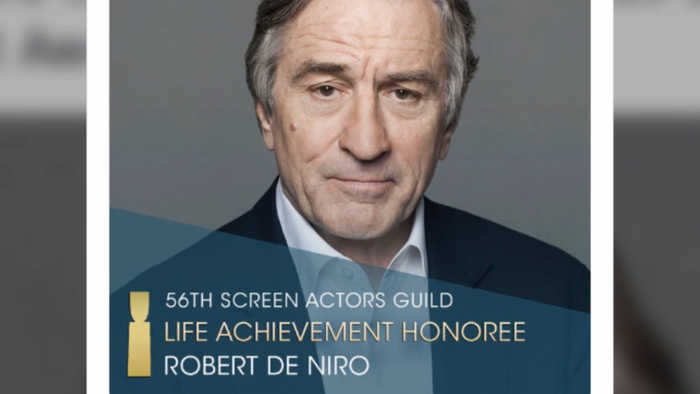 Robert De Niro to receive Hollywood Acting Union's top honour