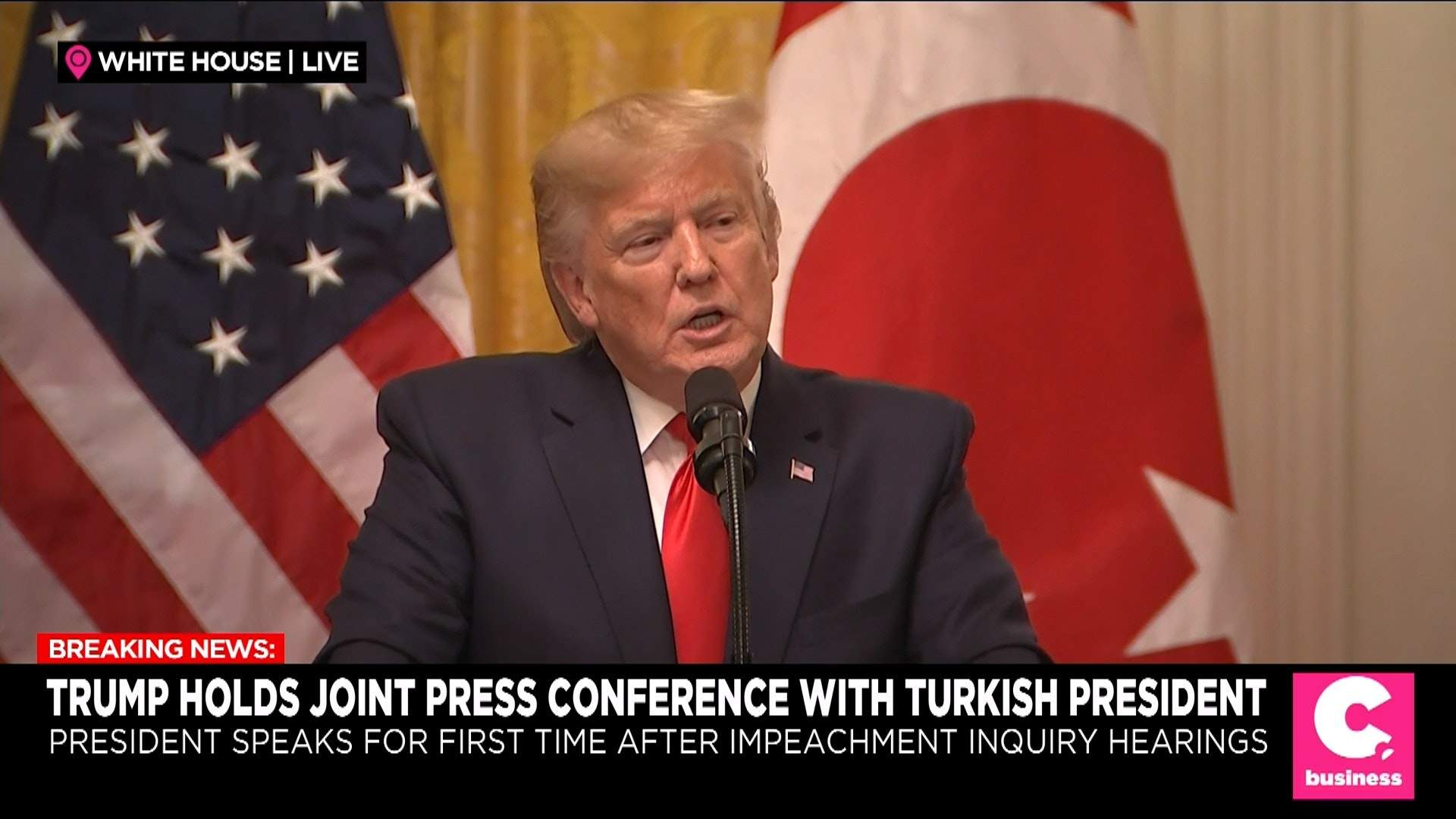 Trump Praises Turkey's President in White House Meeting Amid Strained Relations