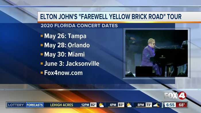 Elton John announces four Florida dates on farewell tour in 2020