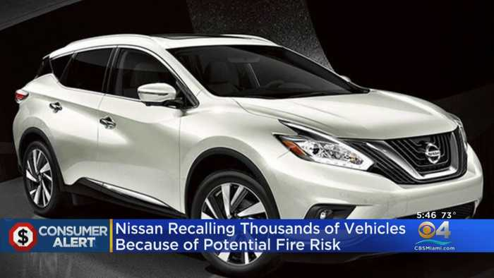 Nissan Recalling Thousands Of Vehicles Because Of Potential Fire Risk