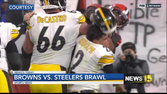 Browns vs Steelers brawl