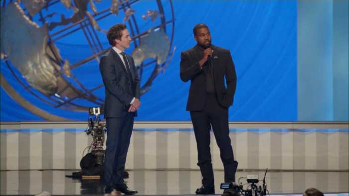 Kanye West Performs At Joel Osteen's Megachurch