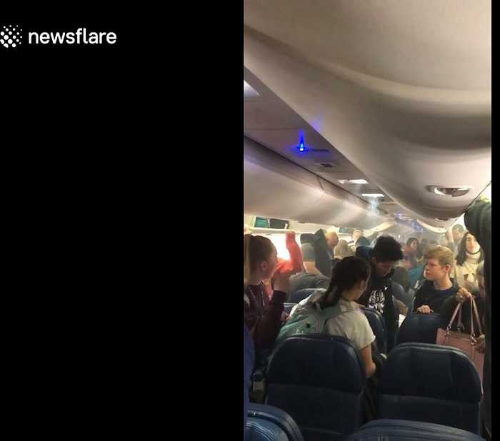 Delta flight passengers forced to evacuate after smoke fills plane cabin in Madrid
