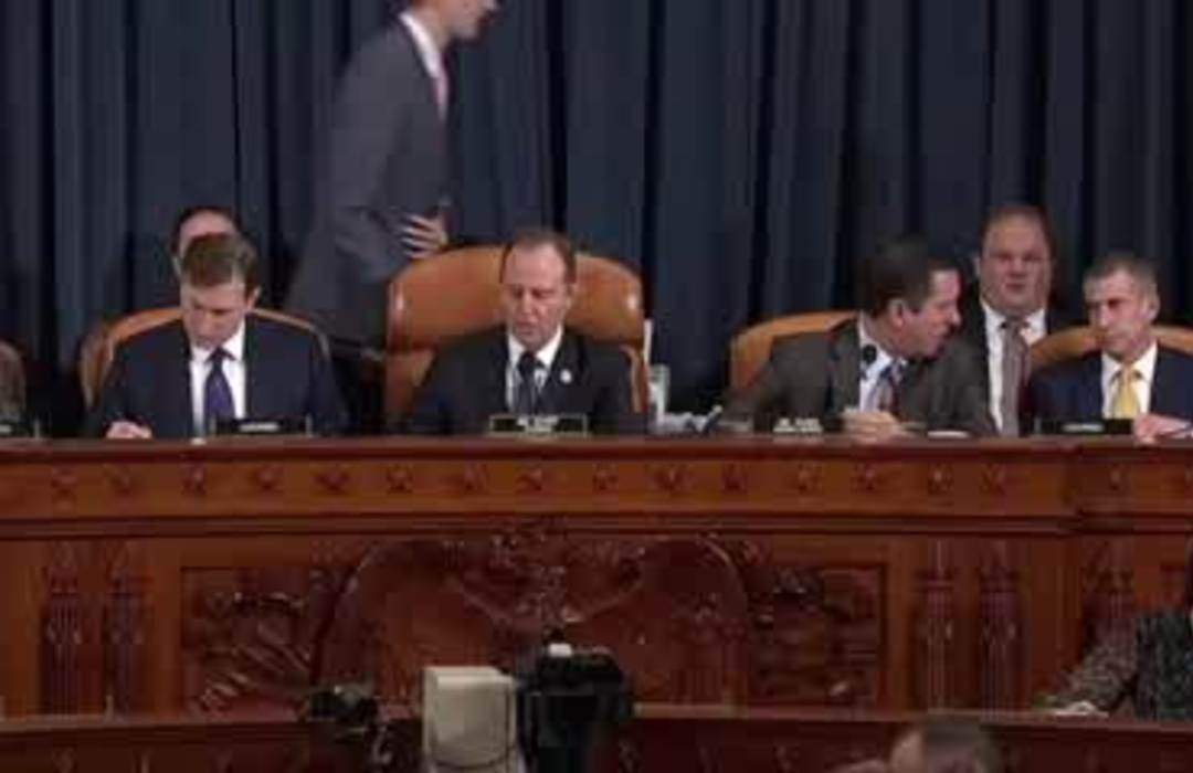 Democratic chairman, Republican member open impeachment hearing