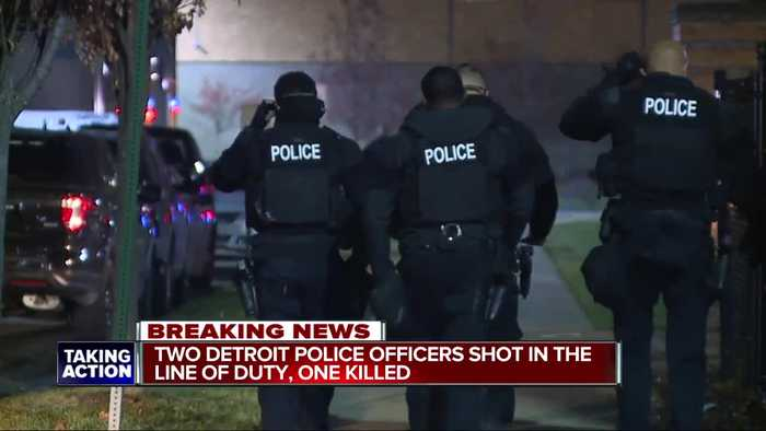 1 officer dead, another in serious condition after shooting on Detroit's west side