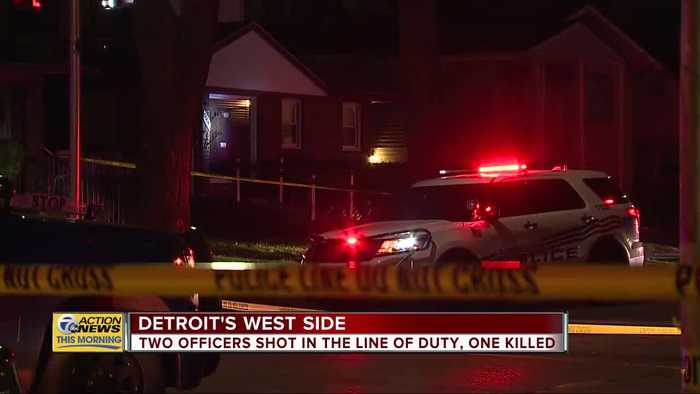 2 Detroit Police Department officers shot, 1 killed on city's northwest side