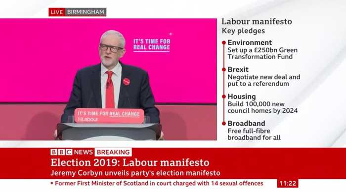 Corbyn Pledges New Homes And Tax On Oil Firms As He Launches Labour Manifesto