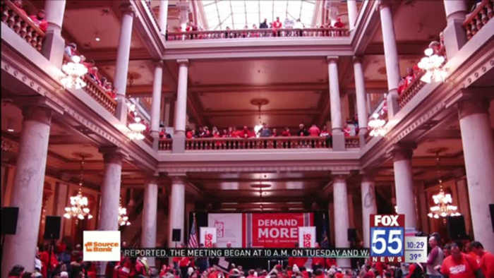 FWCS represented at Red For Ed rally