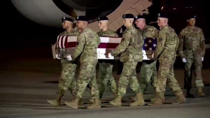 Trump honors two soldiers killed in Afghanistan