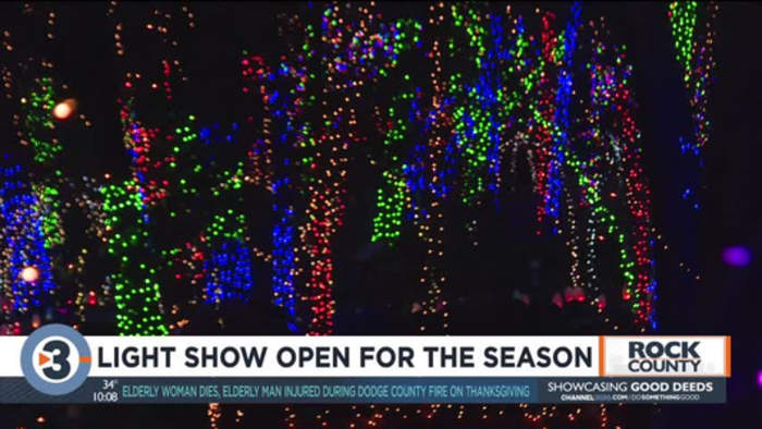 Janesville Rotary Gardens light show to open for the season Friday