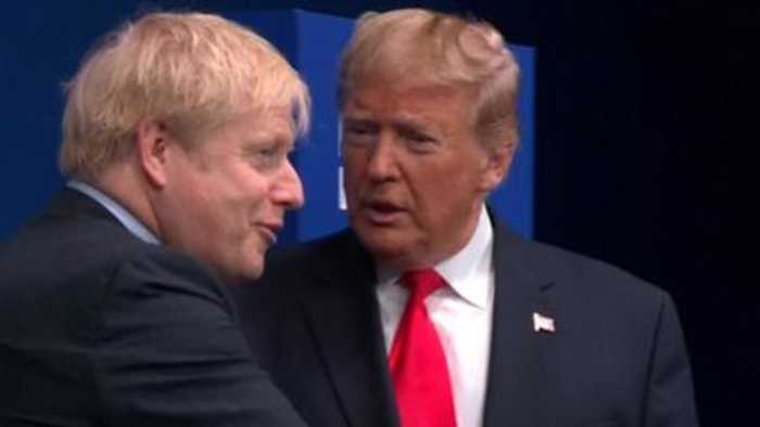 Trump reveals he spoke to Johnson about trade during No 10 meeting