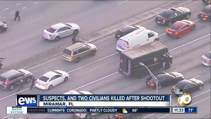 Shootout over stolen UPS truck