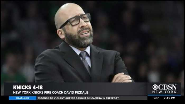 David Fizdale Out As Knicks Head Coach