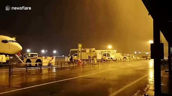 Flights cancelled as Storm Atiyah makes landfall in UK and Ireland