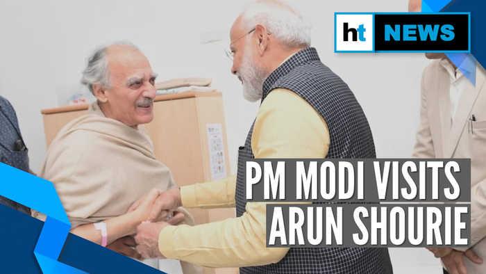 PM Modi visits ex-Union minister & fierce critic Arun Shourie in hospital