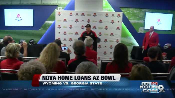 University of Wyoming and Georgia State University to play at 5th NOVA Home Loans Arizona Bowl Teams