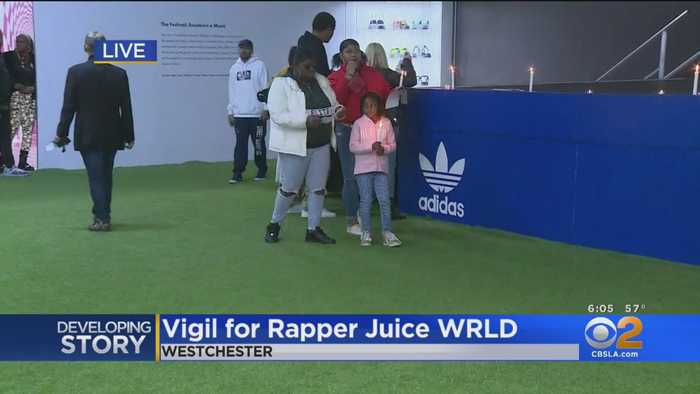 Late Rapper Juice Wrld Mourned At Candlelight Vigil In LA