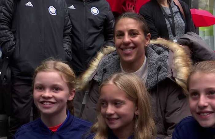 'Keep fighting for what's right' - soccer star Carli Lloyd at Broadway marker honoring in NY