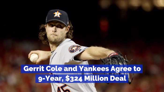 Gerrit Cole Signs Nine Year Deal