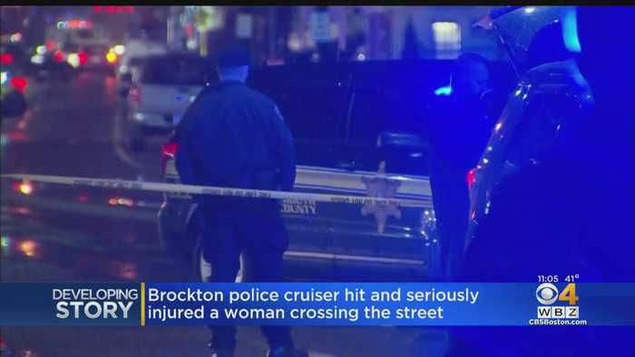 Brockton Police Cruiser Hits Woman Walking In Street