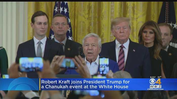 Robert Kraft Joins President Trump For White House Hanukkah Event