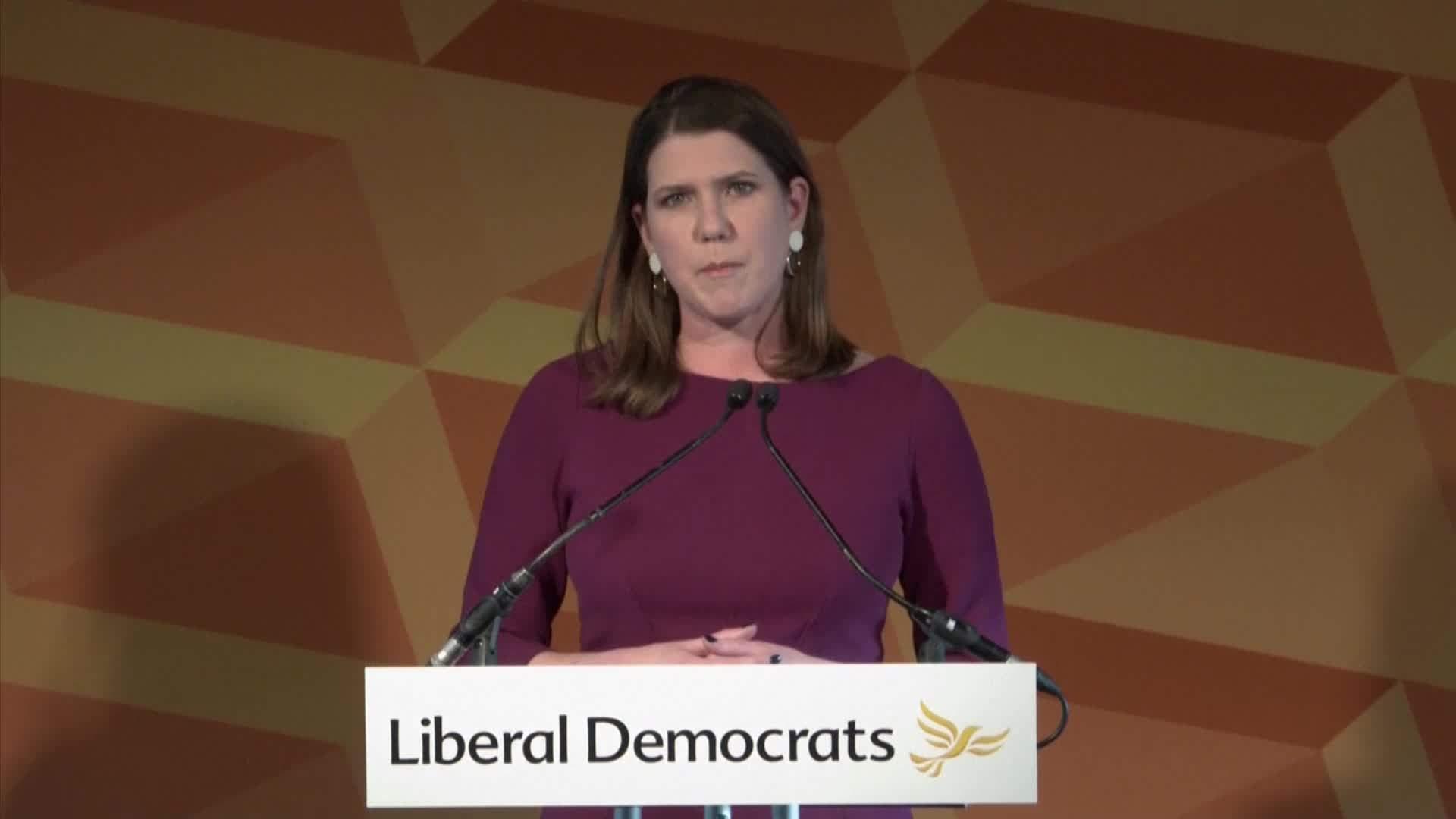 Swinson 'proud' of Lib Dems despite losing seat during General Election