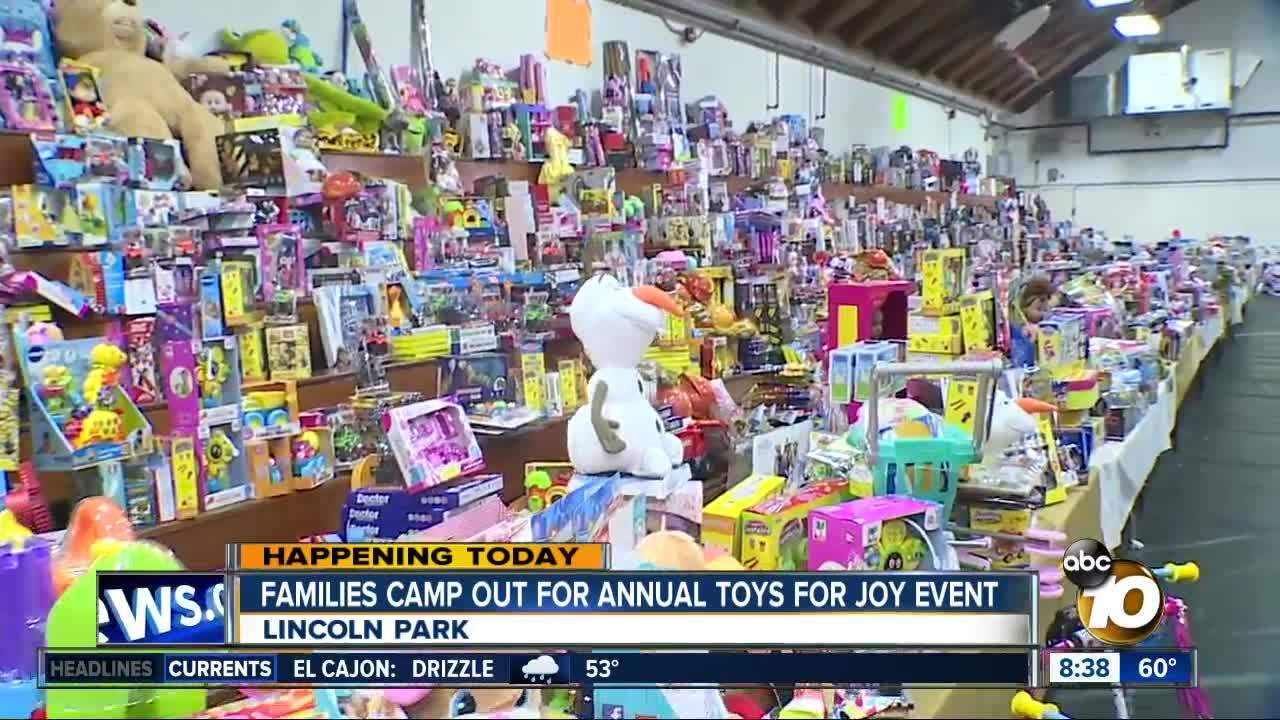 Families camp out for Toys for Joy event