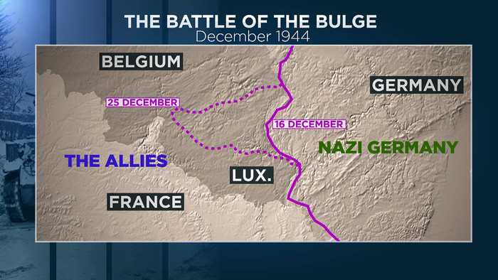 World War Two Battle of the Bulge re-enacted on 75th anniversary