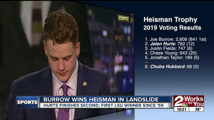 Joe Burrow wins Heisman in landslide; Jalen Hurts finishes second