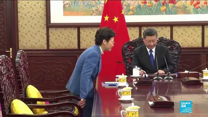 China's Xi gives Hong Kong leader 'unwavering support'