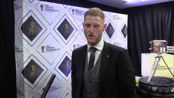 Ben Stokes reacts to winning Sports Personality of the Year