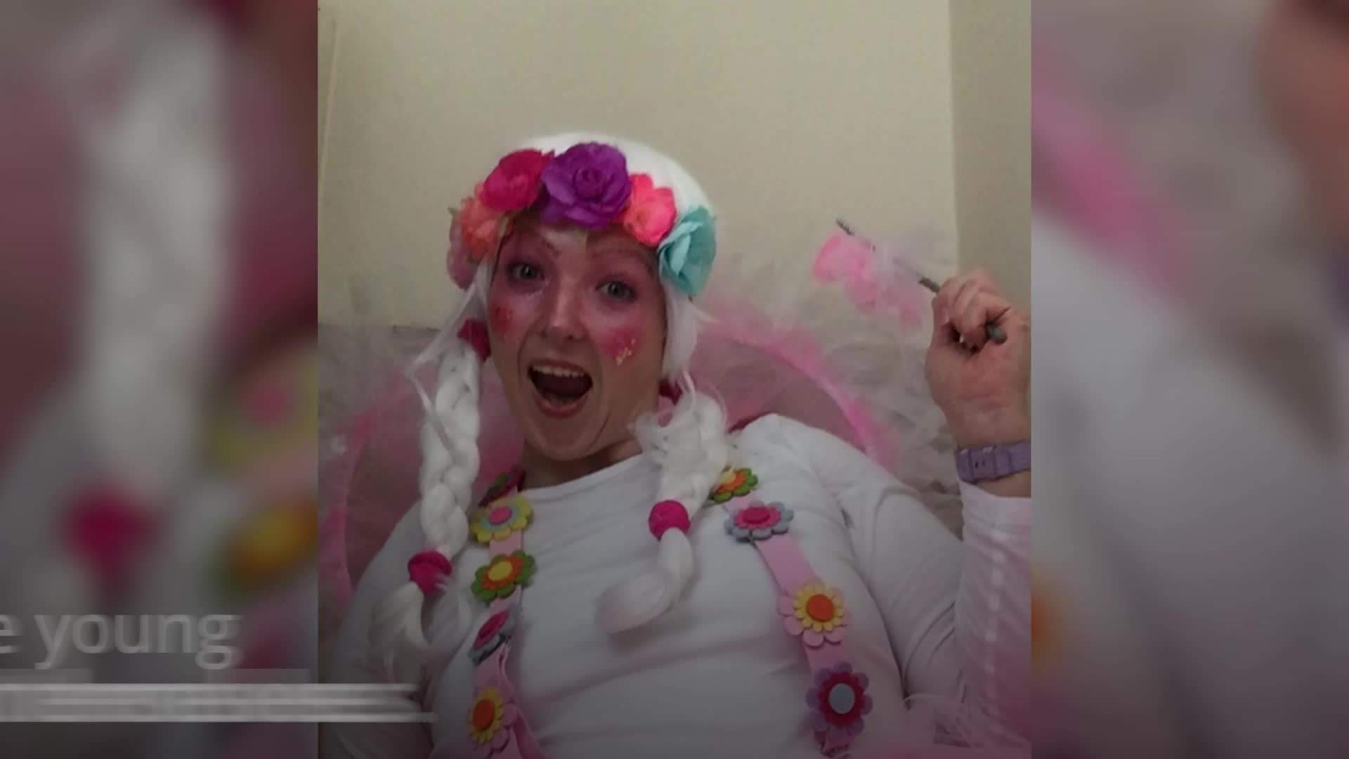 Mum spends December doing the school run in a different festive fancy dress costume every day