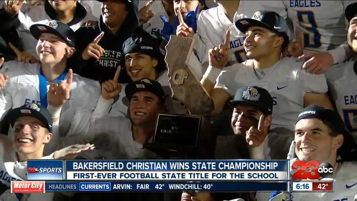 Bakersfield Christian brings home first football state championship
