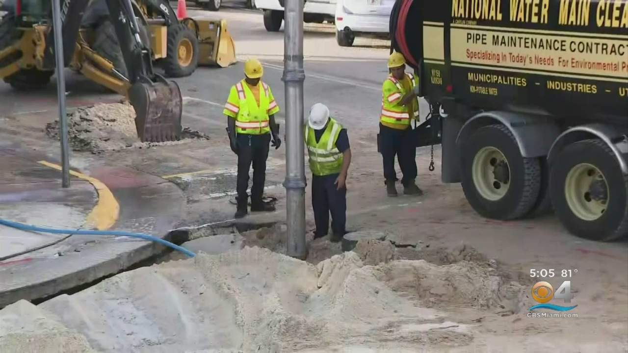 Miami Beach Neighborhood Getting Back To Normal After Massive Water Main Break