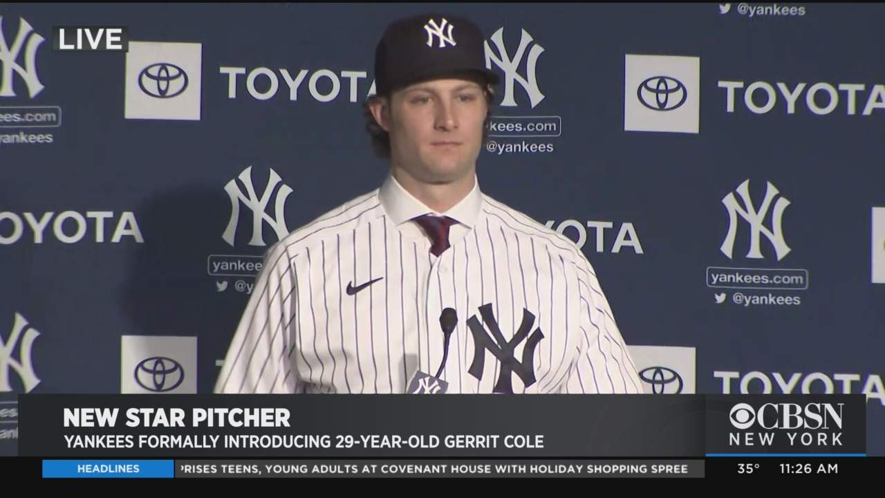 NY Yankees Introduce 29-Year-Old Star Pitcher Gerrit Cole