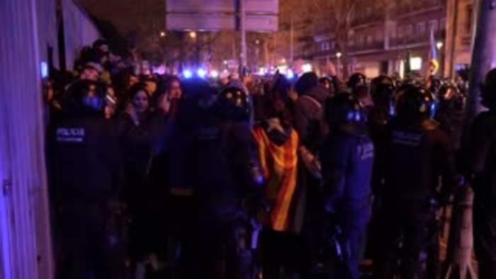 Violence erupts outside El Clasico