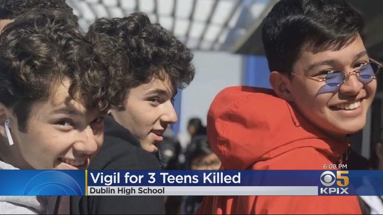 Vigil Held For 3 Teens Killed In Christmas Day Car Crash In Pleasanton
