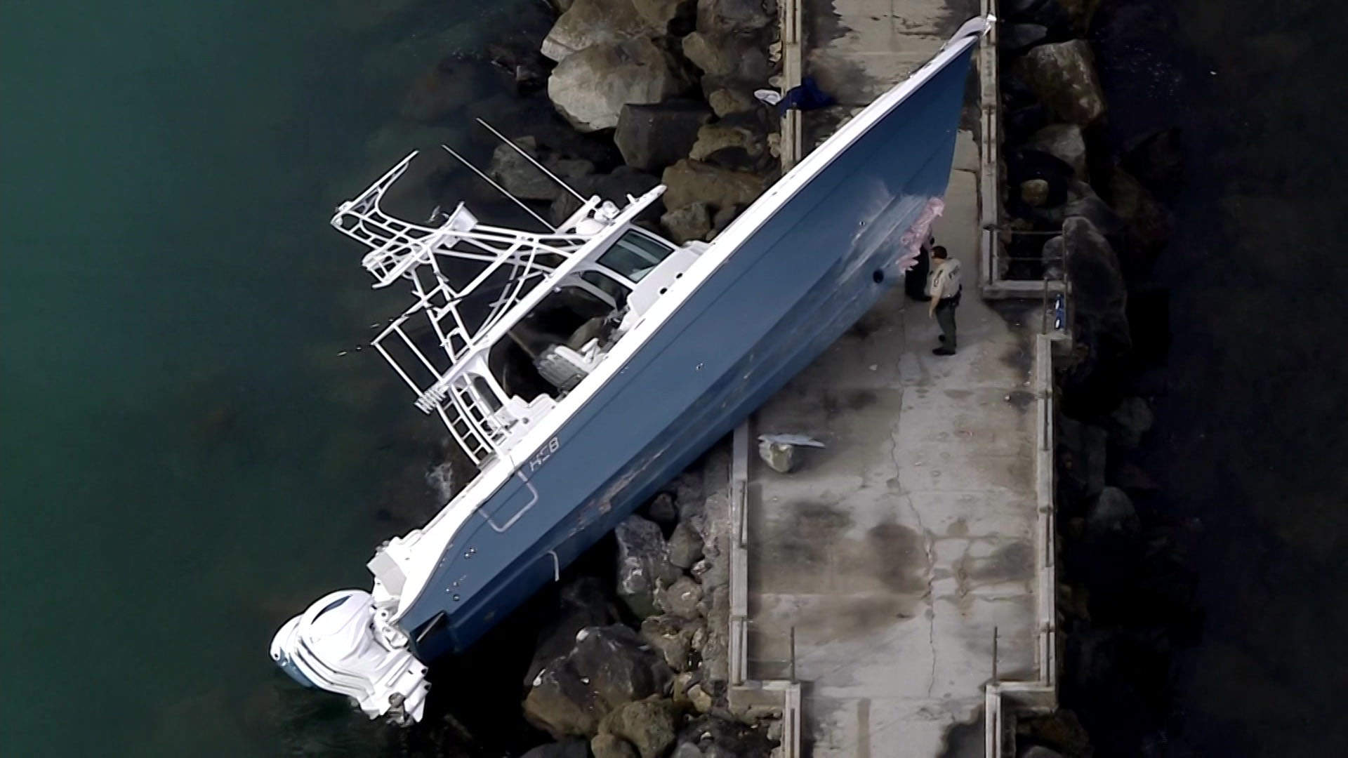 WEB EXTRA: Boat Hit Port Everglades Inlet Jetty