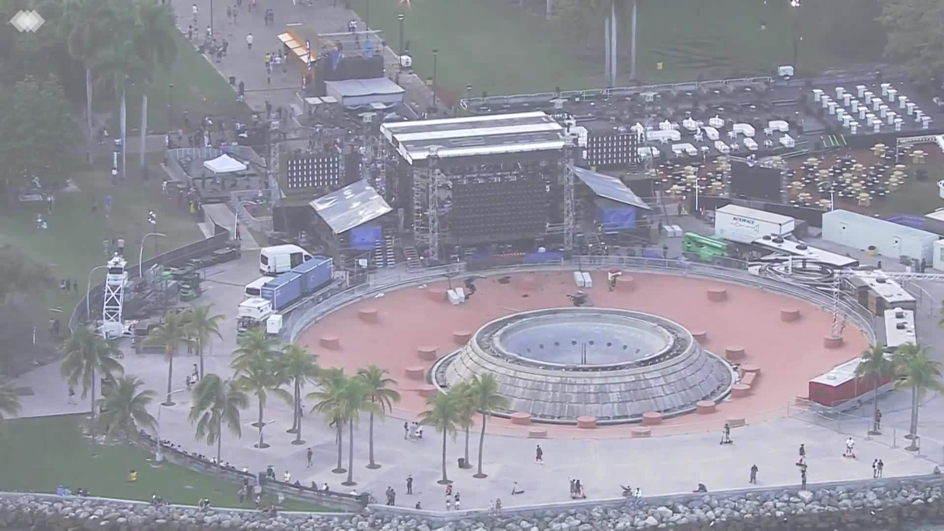 WEB EXTRA: Bayfront Park Getting Ready For New Year's Eve Celebration