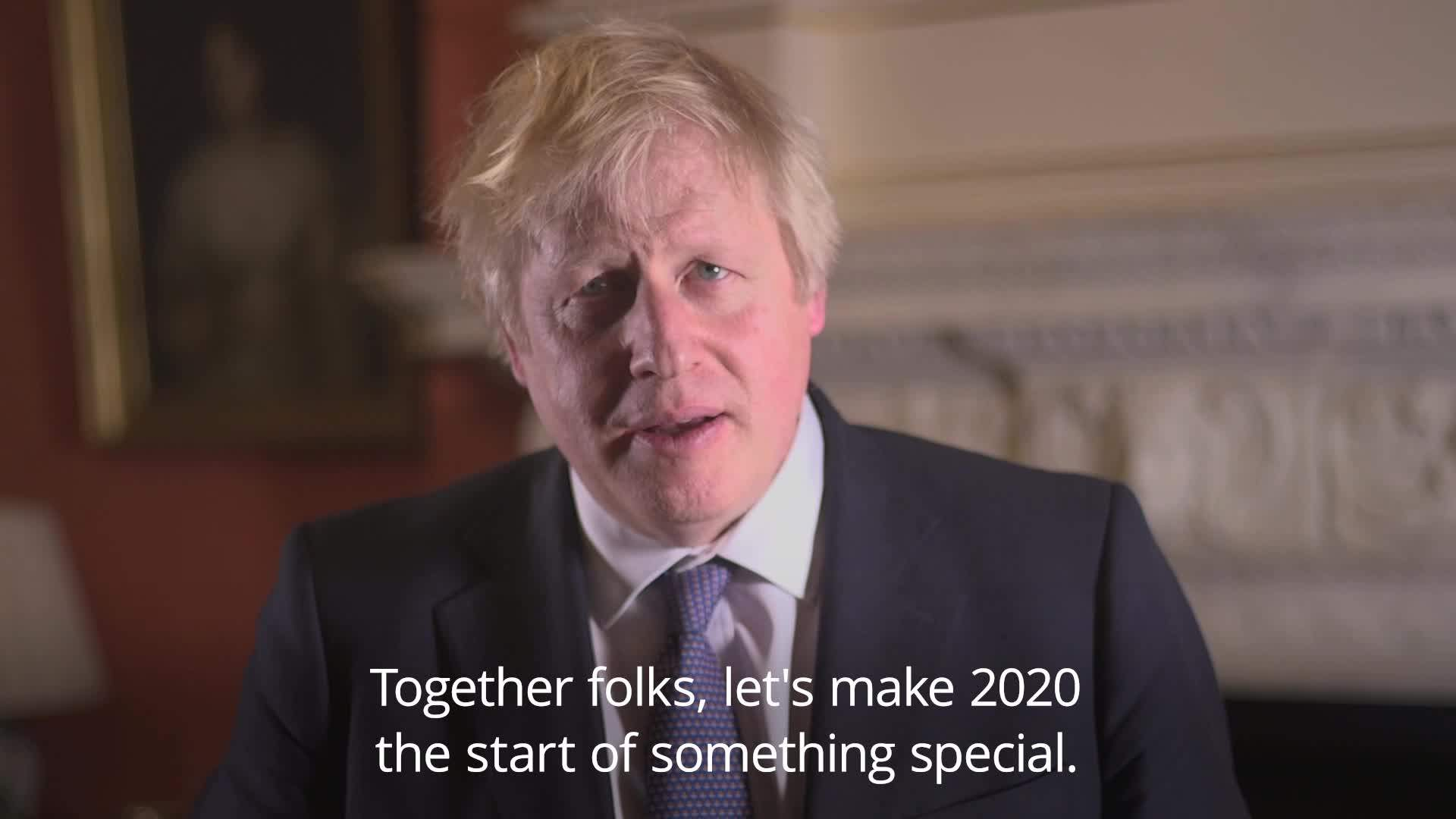 Johnson hails a decade of 'prosperity and opportunity' his New Year message