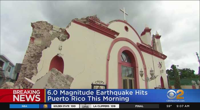 Magnitude 6.0 Earthquake Strikes Off Quake-Stunned Puerto Rico