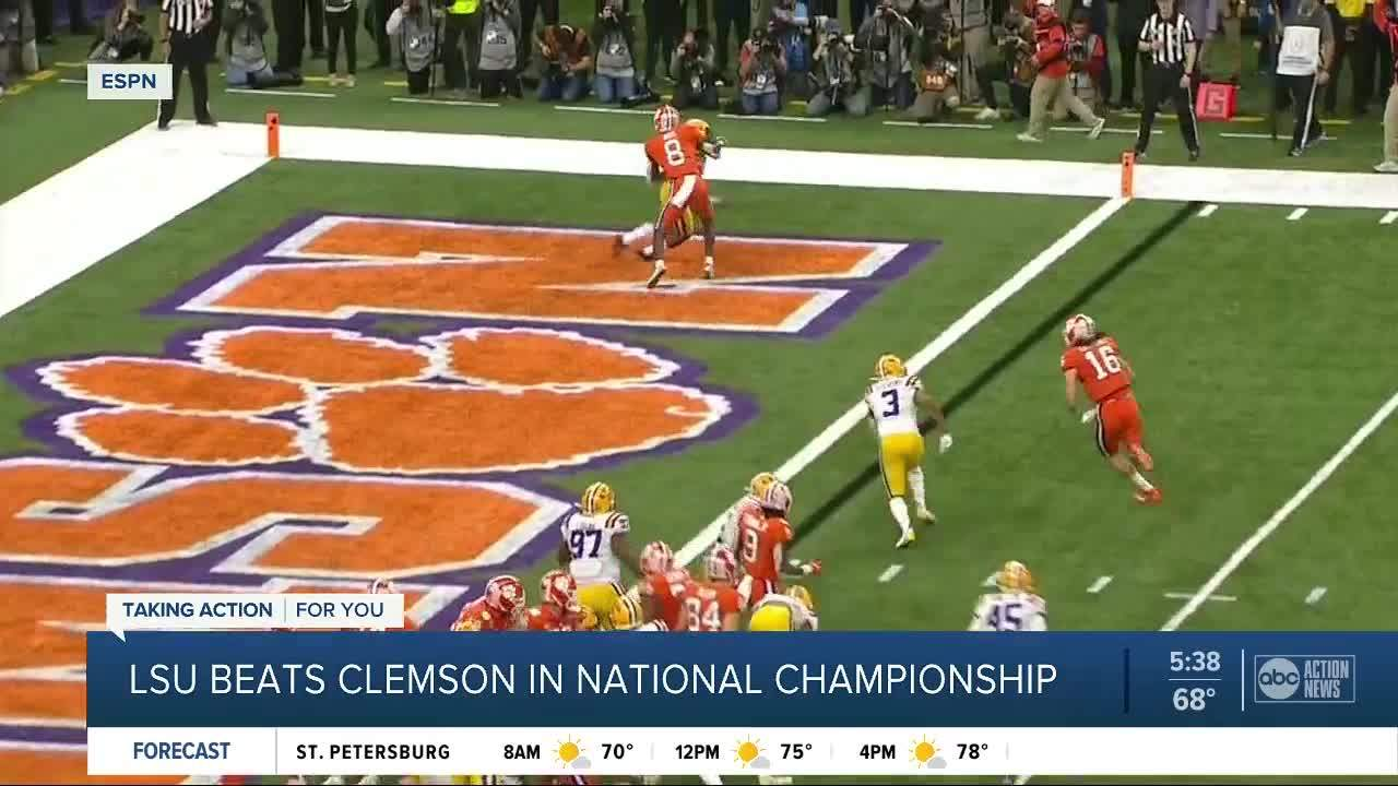 Heisman winner Joe Burrow shines in LSU's national title win over Clemson