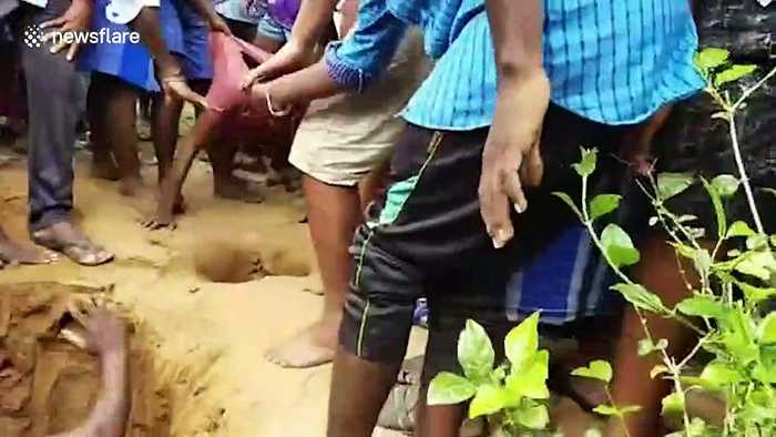 Young men rescue toddler trapped in 5-foot-deep pit in southern India