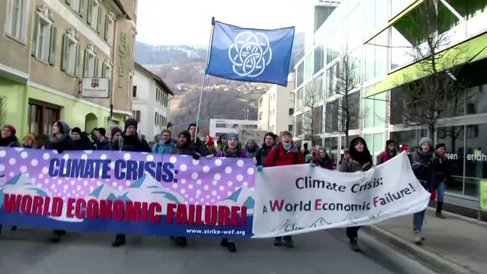 Climate activists set off on hike to Davos